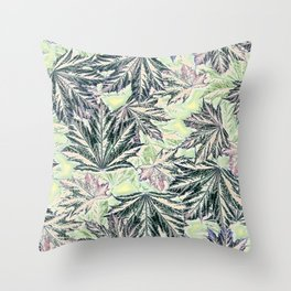 EMERGING MAPLE LEAVES INVERTED Throw Pillow