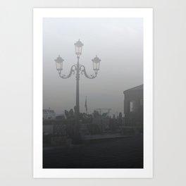 Street Light in Venice Art Print