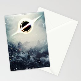 Interstellar Inspired Fictional Sci-Fi Teaser Movie Poster Stationery Cards
