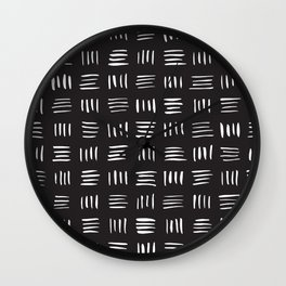 Lines on Lines // White Wall Clock