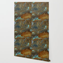 Blue Lagoons in Rusty World Wallpaper