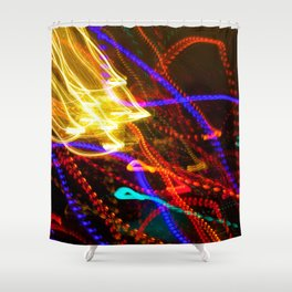 Painting with Christmas Lights - The Peace Collection Shower Curtain