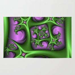 Fractal Art Fantasy Pink Gren Rug