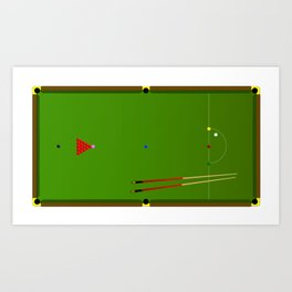 Snooker Cues Art Print