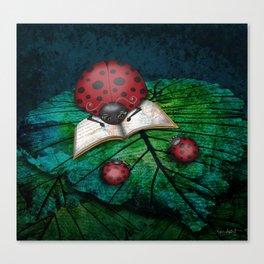 Bedtime Ladybugs Canvas Print