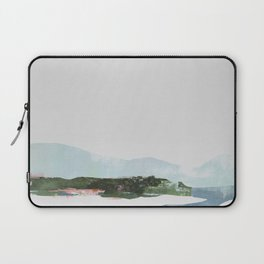 Mountain Vista with Big Sky and River, Winterscape Laptop Sleeve