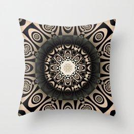 Black Roulette Throw Pillow