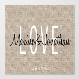 Love & wedding Canvas Print
