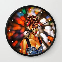 Rihanna - Celebrity with Flash Motion Art Wall Clock