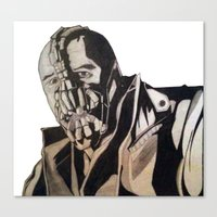 bane Canvas Prints featuring Bane  by iArtSometimes