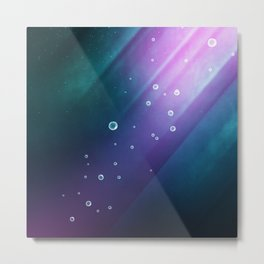 Mermaid Thoughts | Abstract Metal Print