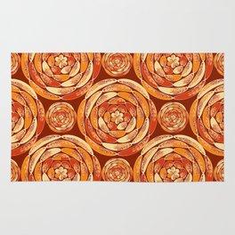 Orange pattern Rug