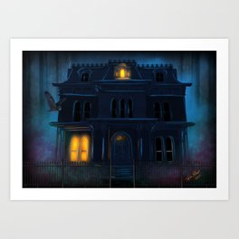 The Haunted Motel by Topher Adam 2017 Art Print