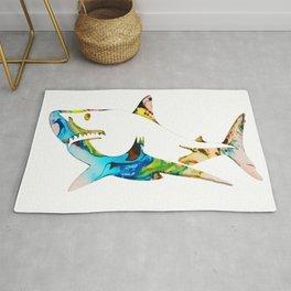 Abstract Shark Rug