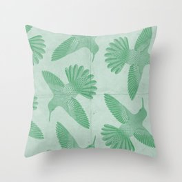 Hummingbird Pattern Throw Pillow