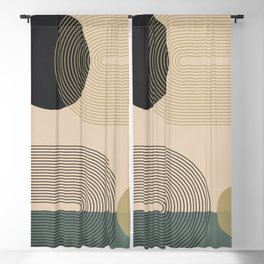 Abstract Geometric Shapes 131 Blackout Curtain