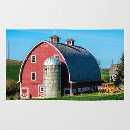 Historic Red Barn - Palouse Region - Washington Rug
