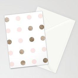 Blush Pink Modern Dots Stationery Cards
