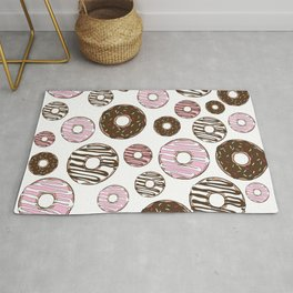 Pattern Of Donuts, Sprinkles, Icing - Pink Brown Rug