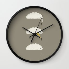 Cloud High Five Wall Clock