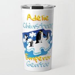 Penguin Adélie Chinstrap Emperor Gento Autism Travel Mug