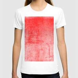 Distressed Coral Textured Canvas T-shirt