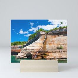 Bridal Veil Falls: Upper Peninsula of Michigan Mini Art Print