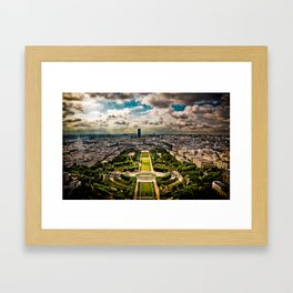 Paris from the Eiffel Tower Framed Art Print
