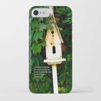 verse iPhone & iPod Cases featuring Birdhouse Verse by 3 Chics Couture