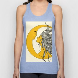 Sun and Moon Unisex Tank Top