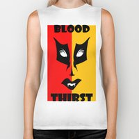 blood Biker Tanks featuring BLOOD  by Robleedesigns