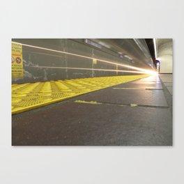 Motion Blur Granville Skytrain 2 Canvas Print