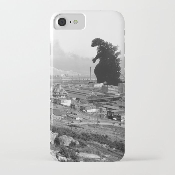 old time godzilla iphone case