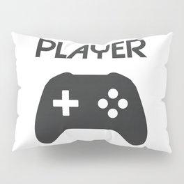 Player Text and Gamepad Pillow Sham