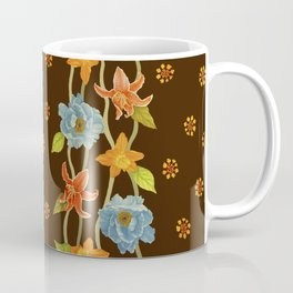 Vintage Flowery Serpentine Coffee Mug