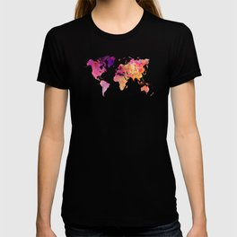 world map 93 #worldmap #map #world T-shirt