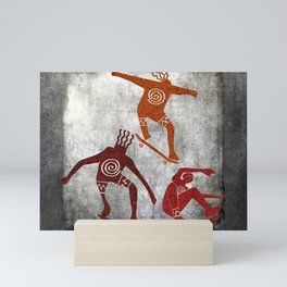 Skateboard Petroglyph Mini Art Print