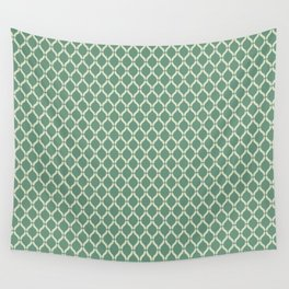 Green Geometric Pattern Wall Tapestry
