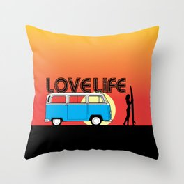 Love Life - Surf Van Throw Pillow