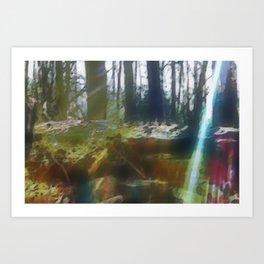 Shades and Rays Art Print