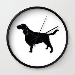 English Springer Spaniel Dog Breed Silhouette Wall Clock