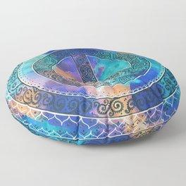 Tie-Dye Peace Mandala Neg Floor Pillow