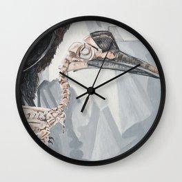 Hornbill Skeleton Museum Display Wall Clock