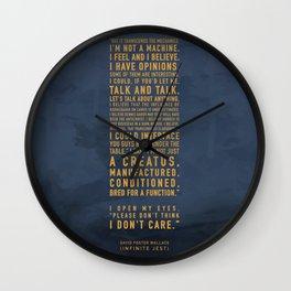 Not a Machine Wall Clock