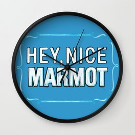BIG LEBOWSKI- the Dude - Hey, Nice Marmot Wall Clock