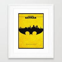 bat man Framed Art Prints featuring Bat Man by Ayse Deniz