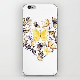 Butterflies heart iPhone Skin