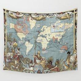 World map - British Empire - 1886 Wall Tapestry