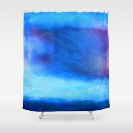 Moody blue cloud Shower Curtain