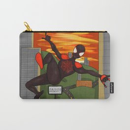 spidey swinging in front of a sunset Carry-All Pouch